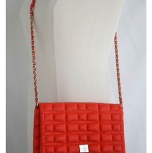 Kate Spade Orange Brianne Quilted Design Crossbody